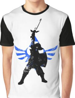 Skyward Stance - Blue Graphic T-Shirt