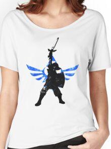 Skyward Stance - Blue Women's Relaxed Fit T-Shirt