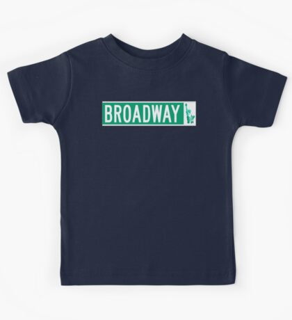 Broadway (with Statue of Liberty), Street Sign, NYC Kids Tee