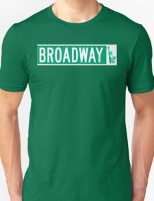 Broadway (with Statue of Liberty), Street Sign, NYC Unisex T-Shirt