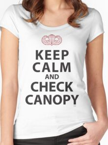 KEEP CALM AND CHECK CANOPY Women's Fitted Scoop T-Shirt