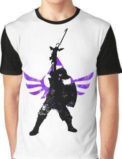 Skyward Stance - Purple Graphic T-Shirt