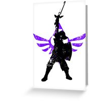 Skyward Stance - Purple Greeting Card
