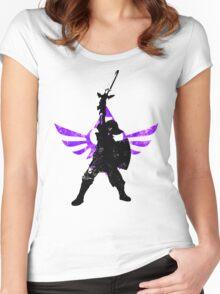 Skyward Stance - Purple Women's Fitted Scoop T-Shirt