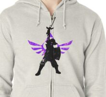 Skyward Stance - Purple Zipped Hoodie