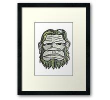 GREEN YETI Framed Print
