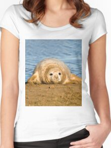 Almost Ready For My First Swim. Women's Fitted Scoop T-Shirt