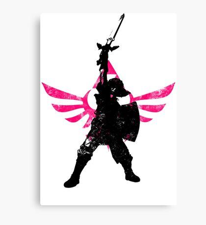 Skyward Stance - Pink Canvas Print