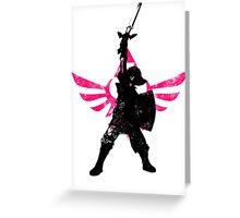 Skyward Stance - Pink Greeting Card