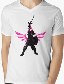 Skyward Stance - Pink Mens V-Neck T-Shirt