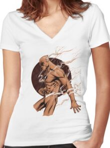The Reverse Flash Women's Fitted V-Neck T-Shirt
