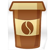 Fancy Paper Coffee Cup Poster