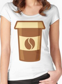 Fancy Paper Coffee Cup Women's Fitted Scoop T-Shirt