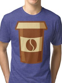 Fancy Paper Coffee Cup Tri-blend T-Shirt