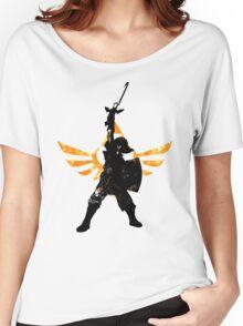 Skyward Stance - Orange Women's Relaxed Fit T-Shirt