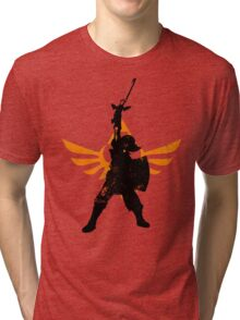 Skyward Stance - Orange Tri-blend T-Shirt