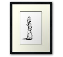 sketch doll Framed Print