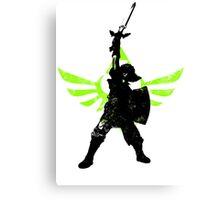 Skyward Stance - Green Canvas Print