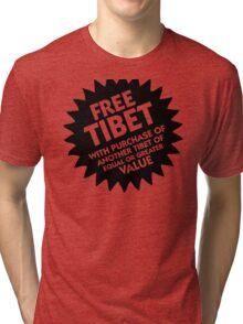 Free Tibet! Tri-blend T-Shirt