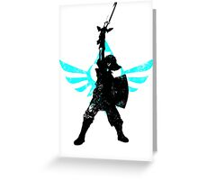 Skyward Stance - Aqua Greeting Card