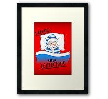 Santa Claus' Got The Sniffles Framed Print