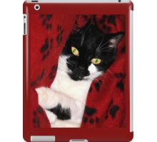 Black & White Cat iPad Case/Skin