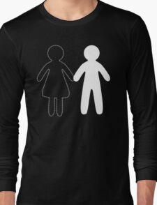 Missing half in chalk (Part II - girl) Long Sleeve T-Shirt