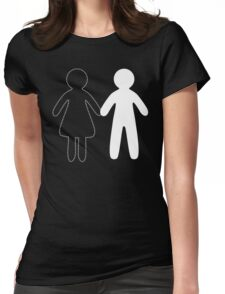 Missing half in chalk (Part II - girl) Womens Fitted T-Shirt