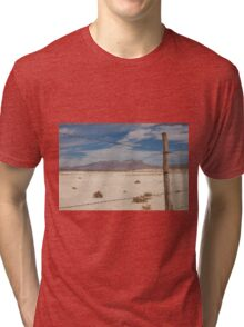 White Sands barbed wire Tri-blend T-Shirt