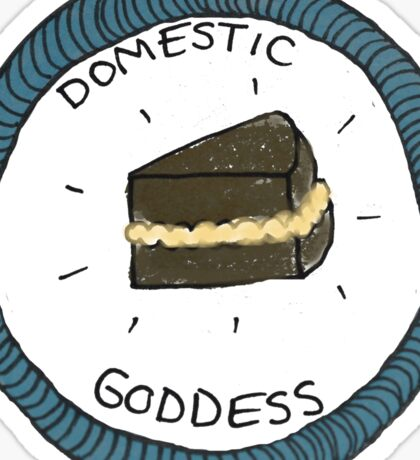 Domestic Goddess Scout Badge Sticker