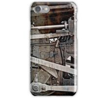 oily components of an old steam cog locomotive iPhone Case/Skin