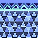 Blue Triangle Pattern by gretzky