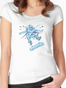skater hand draw  Women's Fitted Scoop T-Shirt