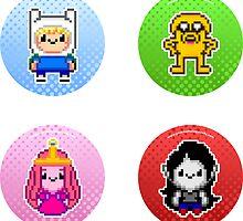 Adventure Time Circles by geekmythology