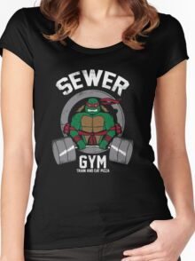 Sewer Gym Women's Fitted Scoop T-Shirt