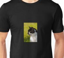 Black & White Cat Portrait Unisex T-Shirt