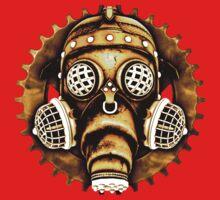 Steampunk/Cyberpunk Gas Mask #1D Kids Tee