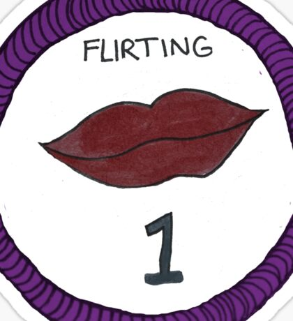 Flirting Level One Scout Badge Sticker