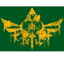 Skyward Symbol - Green BG Photographic Print
