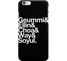Crayon Pop goes Helvetica iPhone Case/Skin