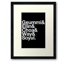 Crayon Pop goes Helvetica Framed Print