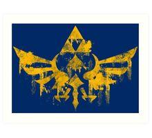 Skyward Symbol - Blue BG Art Print