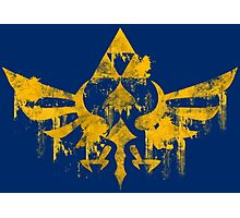 Skyward Symbol - Blue BG Photographic Print
