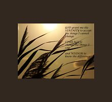Serenity Prayer With Sunset Grass Unisex T-Shirt