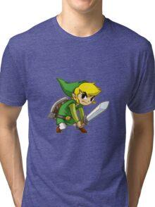 Link from Zelda Tri-blend T-Shirt