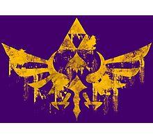 Skyward Symbol - Purple BG Photographic Print