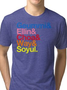 Crayon Pop goes Helvetica (Color) Tri-blend T-Shirt