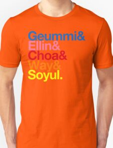 Crayon Pop goes Helvetica (Color) Unisex T-Shirt