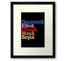 Crayon Pop goes Helvetica (Color) Framed Print