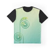 Chamouflaged green Chameleon lizard Graphic T-Shirt